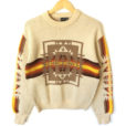 Vintage 70s Fall Colors Aztec Ski Sweater Ugly Sweater