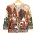 Vintage 90s Home For Thanksgiving Tacky Ugly Sweater
