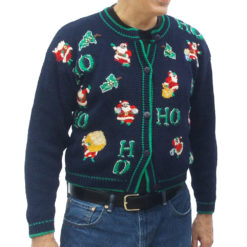 Vintage 90s 'Where My Ho Ho Hos At?' Tacky Ugly Christmas Sweater