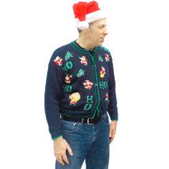 Vintage 90s 'Where My Ho Ho Hos At?' Tacky Ugly Christmas Sweater