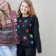 Colorful Snowflakes Fine Gauge Knit Ugly Christmas Sweater