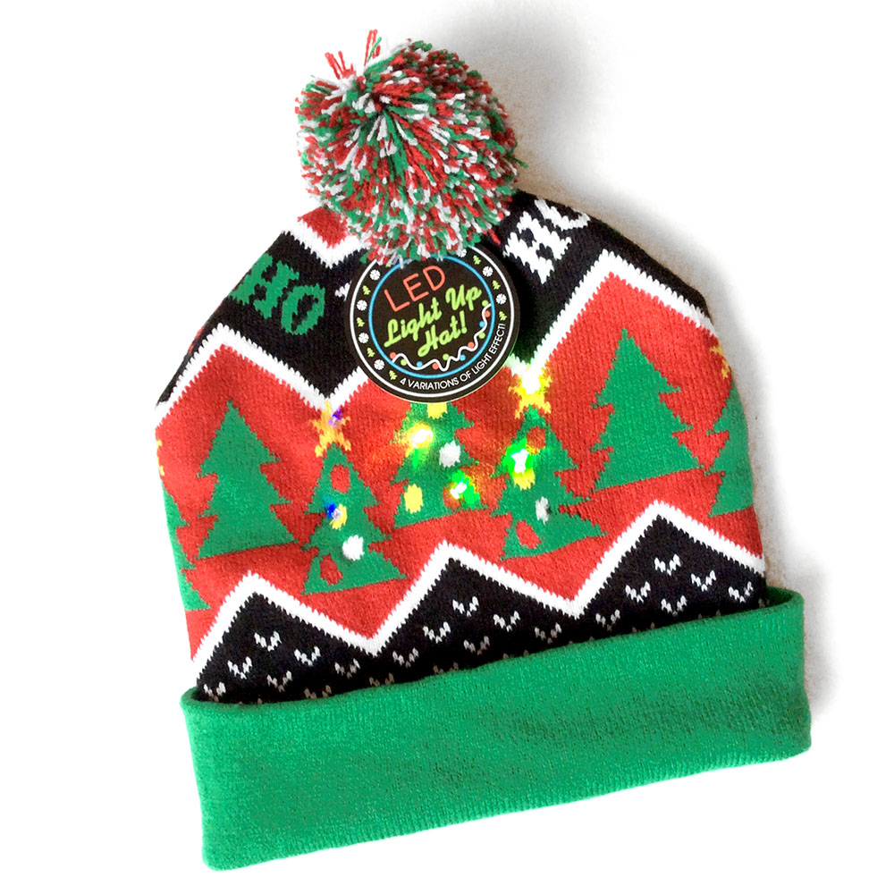 led light up christmas hat stocking caps the ugly sweater - Ugly Christmas Hats