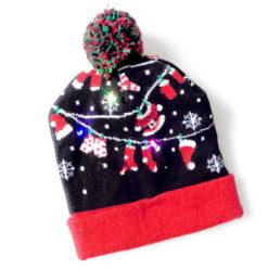 LED Light Up Christmas Hat Stocking Caps
