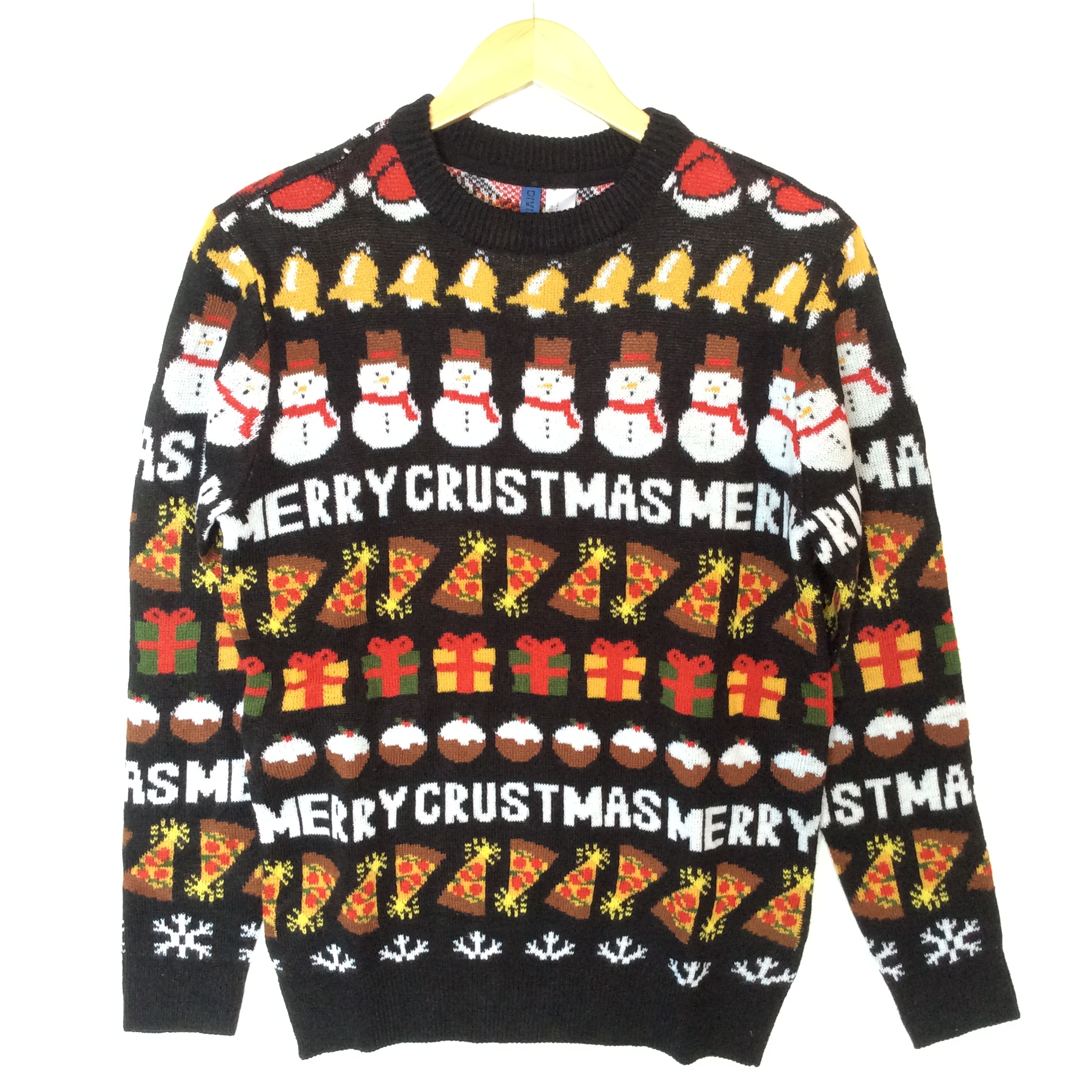 Merry Crustmas Pizza Lover Tacky Ugly Christmas Sweater - The Ugly ...