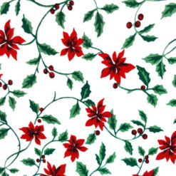Poinsettia and Holly Tacky Ugly Christmas Turtleneck
