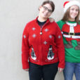 Snowmen in Plaid Coats Tacky Ugly Christmas Sweater