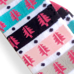 Stripey Christmas Tree Ugly Boot Socks