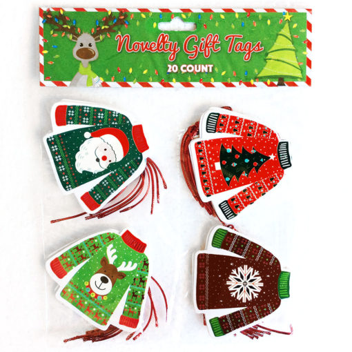 Ugly Christmas Sweater Gift Tags – Set of 20