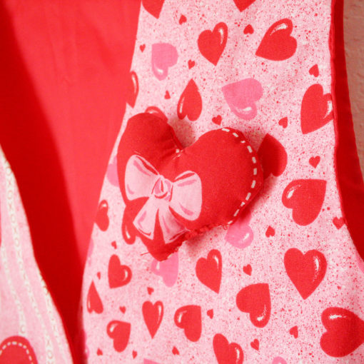 DIY Handmade XOXO Hearts Valentines Day Fabric Ugly Vest