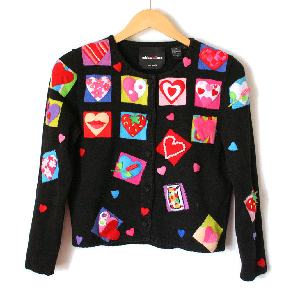 Queen Of Hearts 3d Valentines Day Tacky Ugly Sweater The Ugly